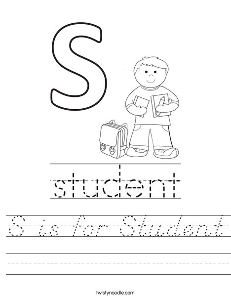 S is for Student Worksheet