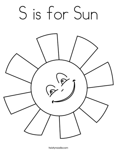 Merveilleux S Is For Sun Coloring Page