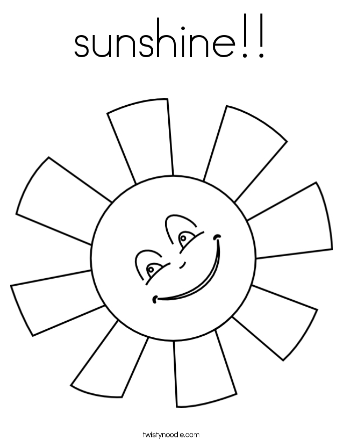 sunshine!! Coloring Page