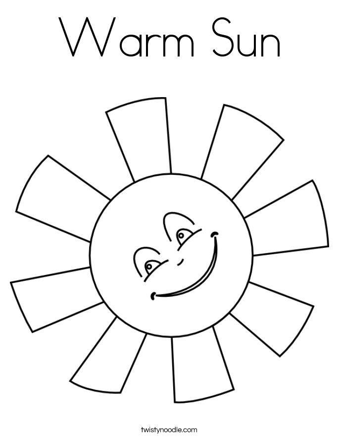 Warm Sun Coloring Page