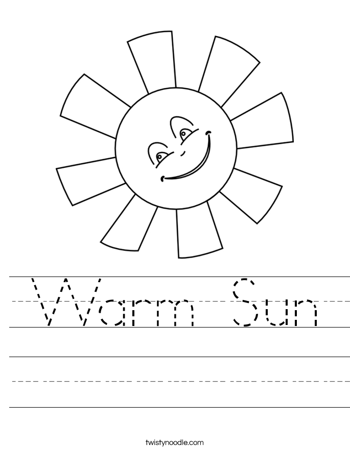 Warm Sun Worksheet