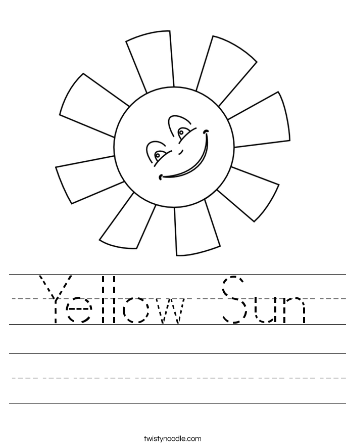 Yellow Sun Worksheet
