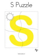 S Puzzle Coloring Page