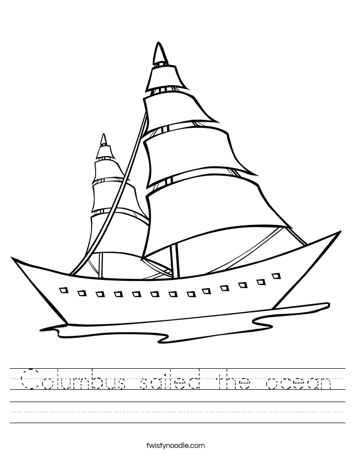 Columbus sailed the ocean Worksheet