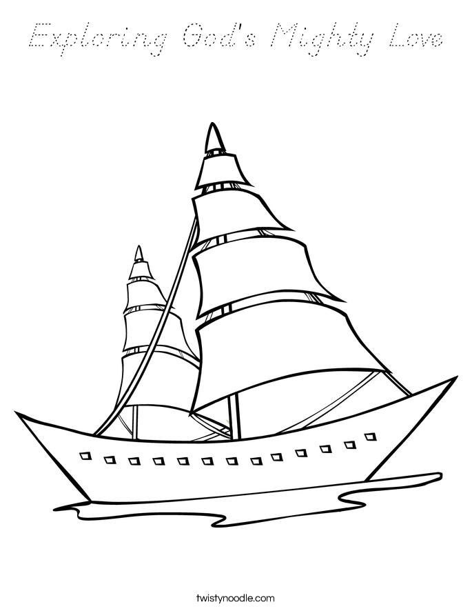 Exploring God's Mighty Love Coloring Page