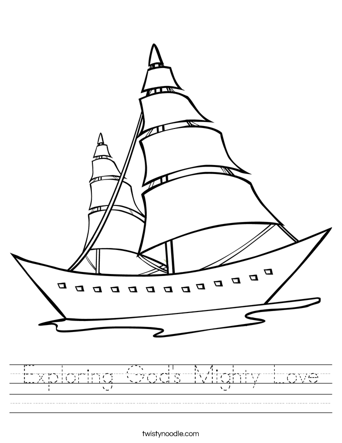 Exploring God's Mighty Love Worksheet