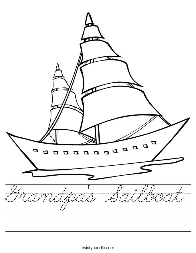 Grandpa's Sailboat Worksheet