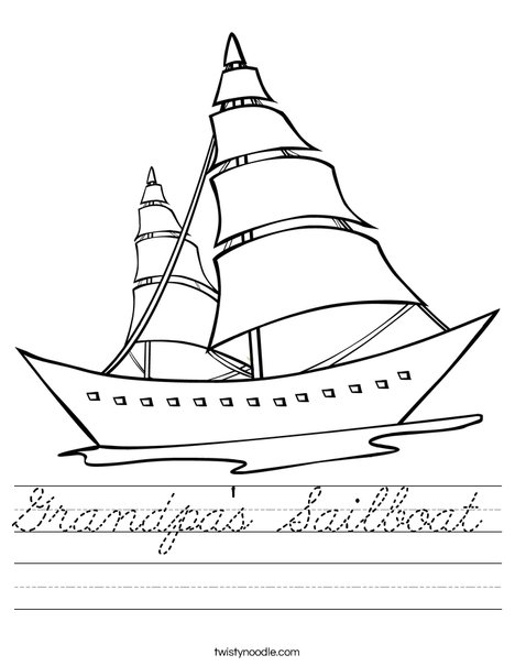 Sailboat Worksheet