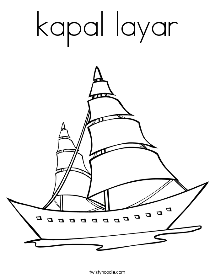 kapal layar Coloring Page