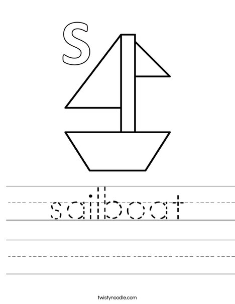S is for Sailboat Worksheet