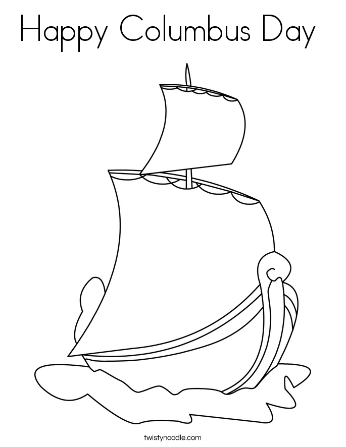 Coloring Pages For Columbus Day - Worksheet & Coloring Pages