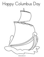 Happy Columbus Day  Coloring Page