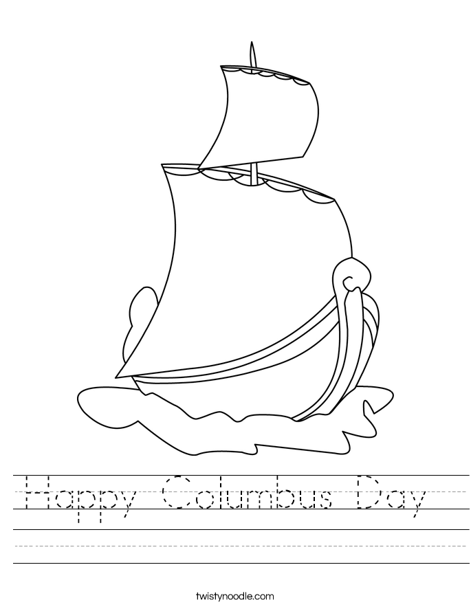 Happy Columbus Day  Worksheet