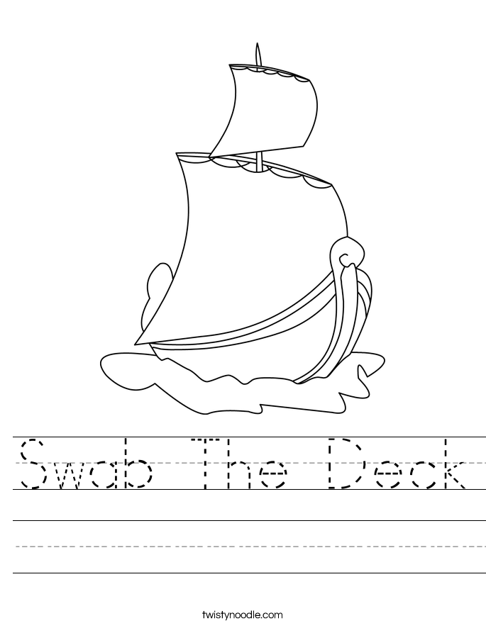 Swab The Deck Worksheet