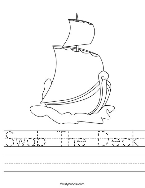 S is for Ship Worksheet