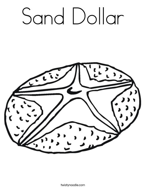 Sand Dollar Coloring Page - Twisty Noodle