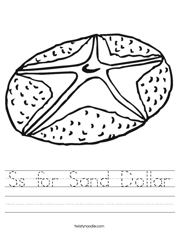 Ss for Sand Dollar Worksheet