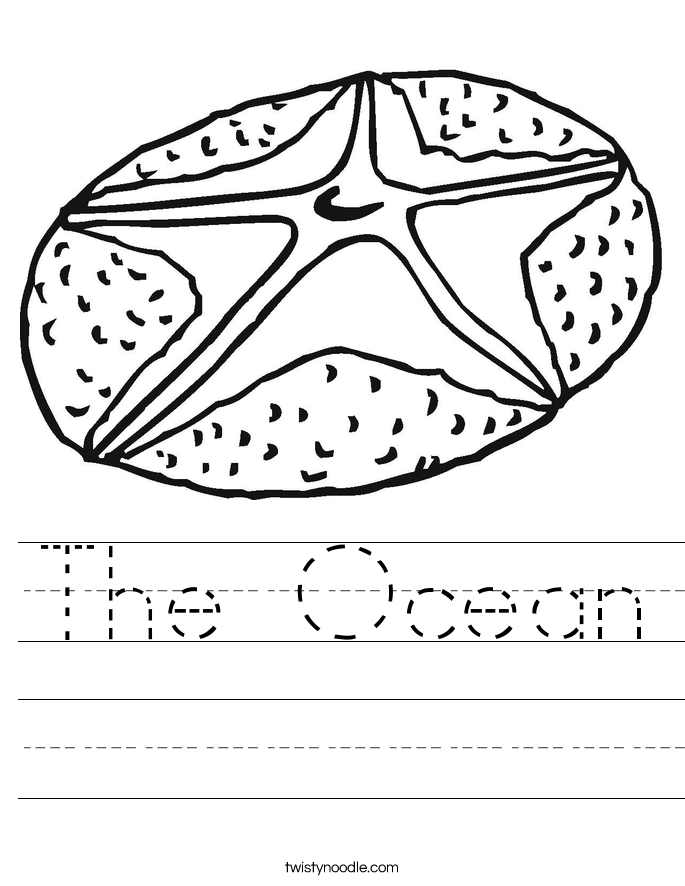 The Ocean Worksheet Twisty Noodle – Ocean Worksheets