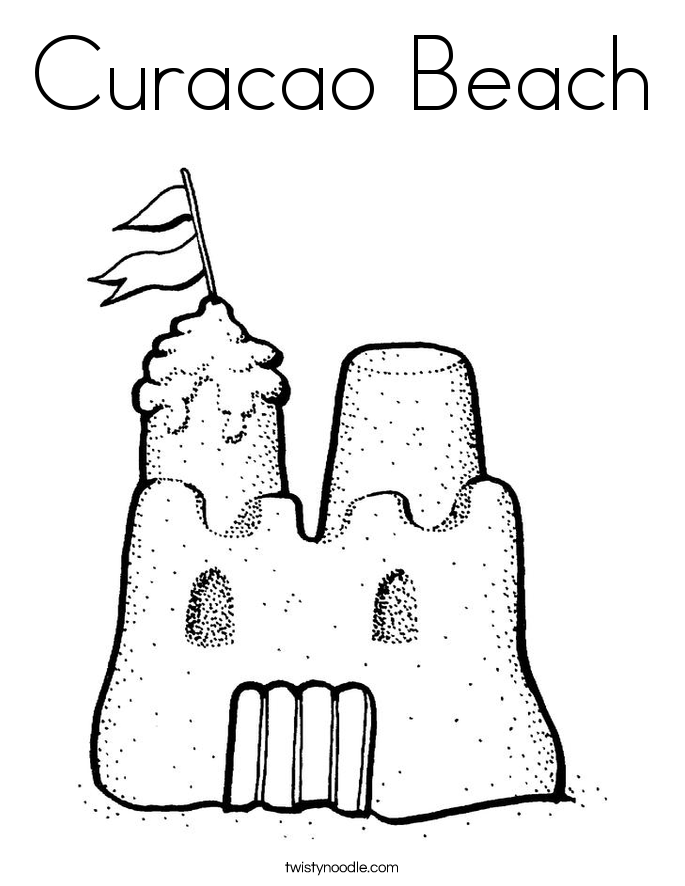 Curacao Beach Coloring Page