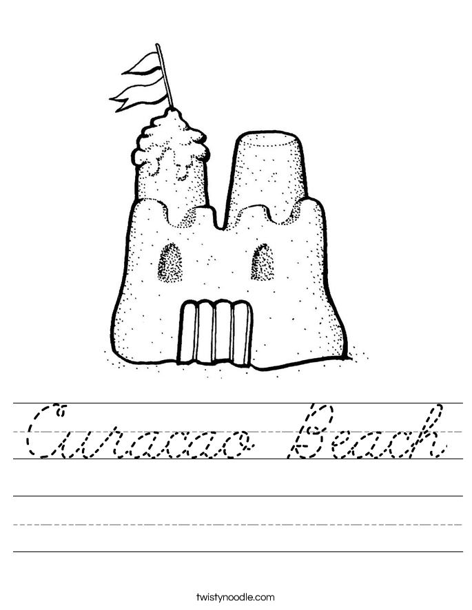 Curacao Beach Worksheet