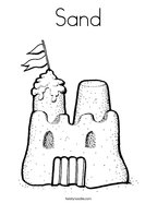 Sand Coloring Page
