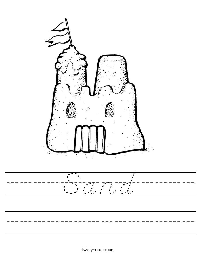 Sand Worksheet