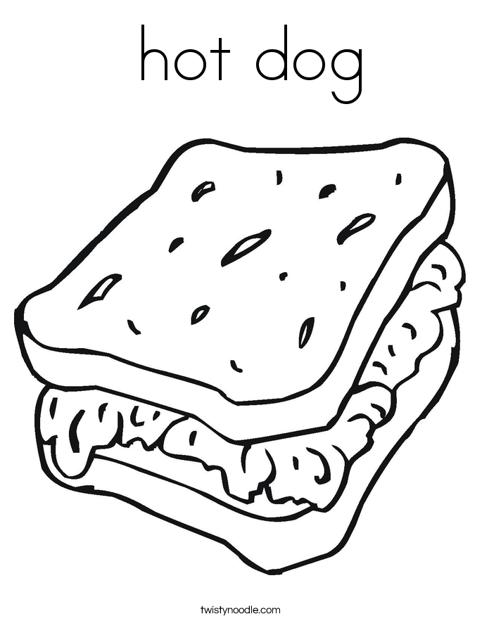 hotdog coloring pages - photo#33
