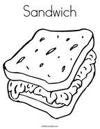 Sandwich Coloring Page