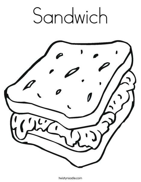 soup and sandwiches coloring pages - photo#10