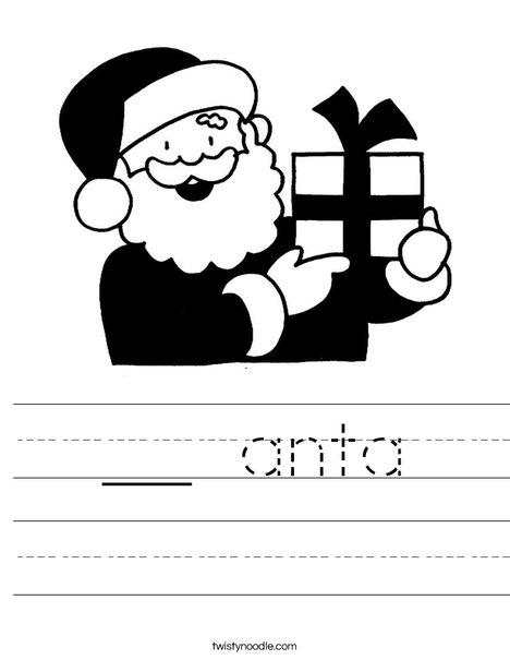 Santa 2 Worksheet