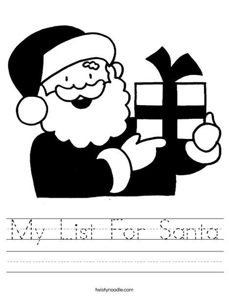 Santa 2 Worksheet
