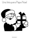 Una lista para Papa Noel Coloring Page
