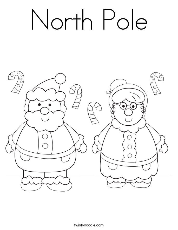 North Pole Coloring Page Twisty