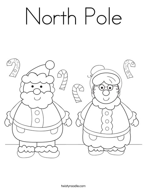 Santa and Mrs. Claus Coloring Page