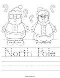 North Pole Worksheet