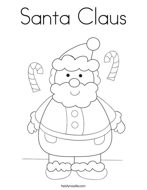 santa claus 2 coloring page - Santa Claus Coloring Pictures 2