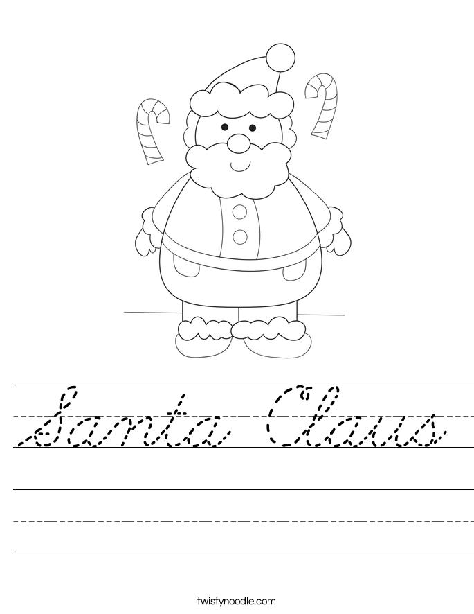 Santa Claus Worksheet
