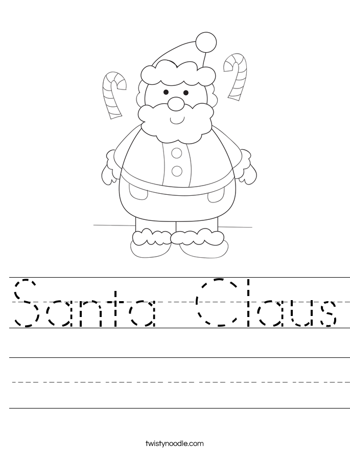 Santa Claus Worksheet