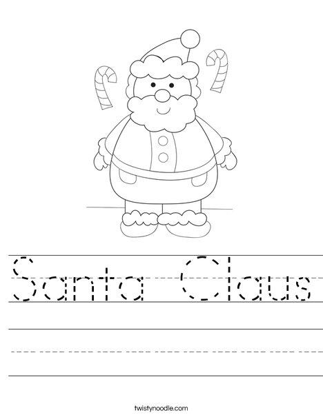 Santa Claus Worksheet - Twisty Noodle