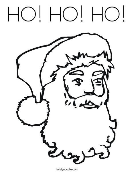 Santa Clause Coloring Page