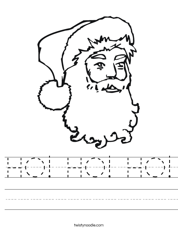 HO! HO! HO! Worksheet