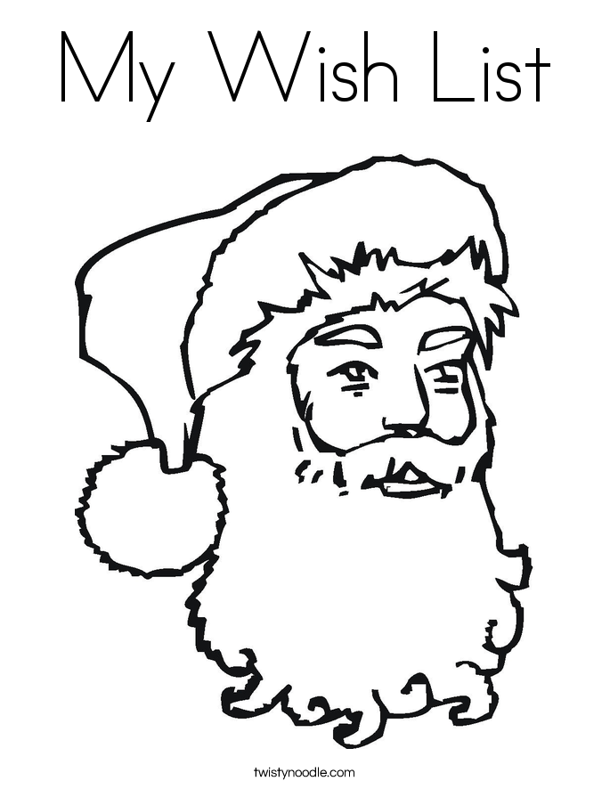 My Wish List Coloring Page Twisty Noodle Wish List Coloring Page