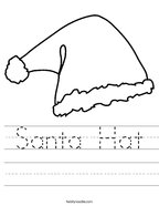 Santa Hat Handwriting Sheet