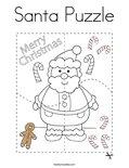 Santa Puzzle Coloring Page