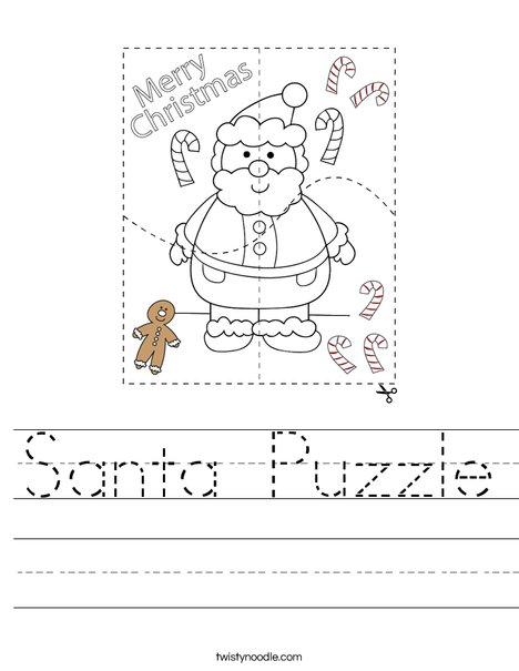 Santa Puzzle Worksheet