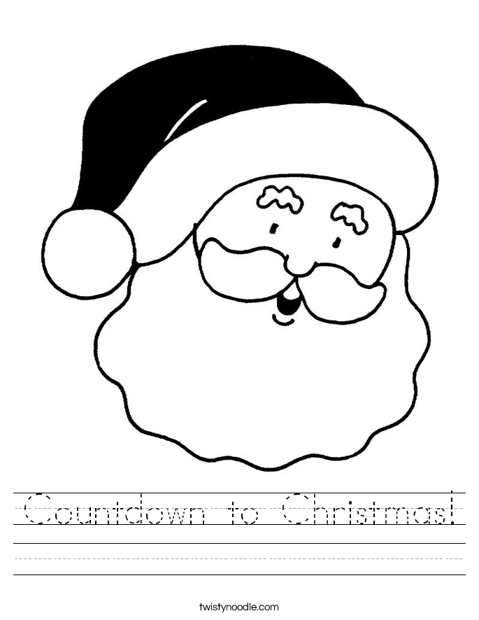 Countdown to Christmas! Worksheet