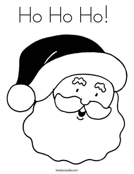 Ho ho ho coloring page twisty noodle for Santa claus is coming to town coloring pages