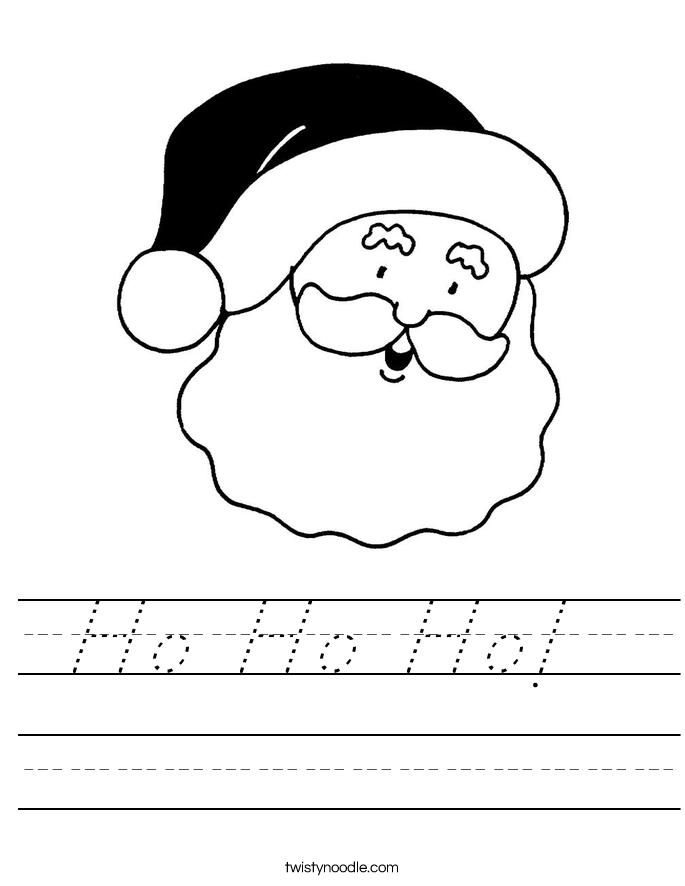 Ho Ho Ho!  Worksheet