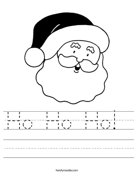 Santa Worksheet