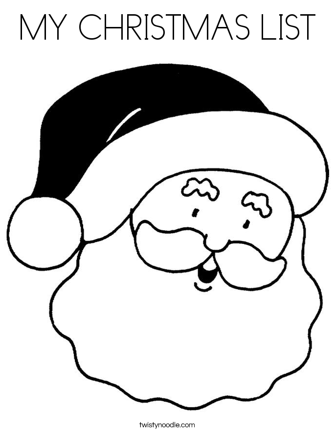 MY CHRISTMAS LIST Coloring Page